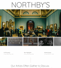 Gallery website design