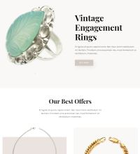 Jewelery shop web design