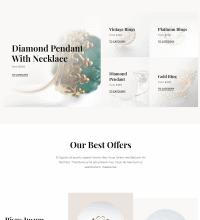 Jewellery shop website design