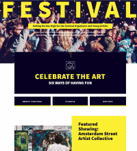 Arts Festival web design