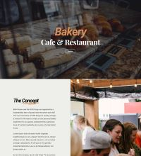 Bakery, restaurant, barista web design