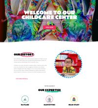 Childcare, creche website design
