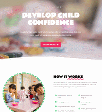 Childcare creche website design