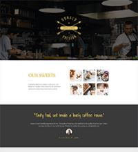 Barista, Coffeshop, Lunchroom website design