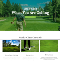 Golf course, golf club, web design